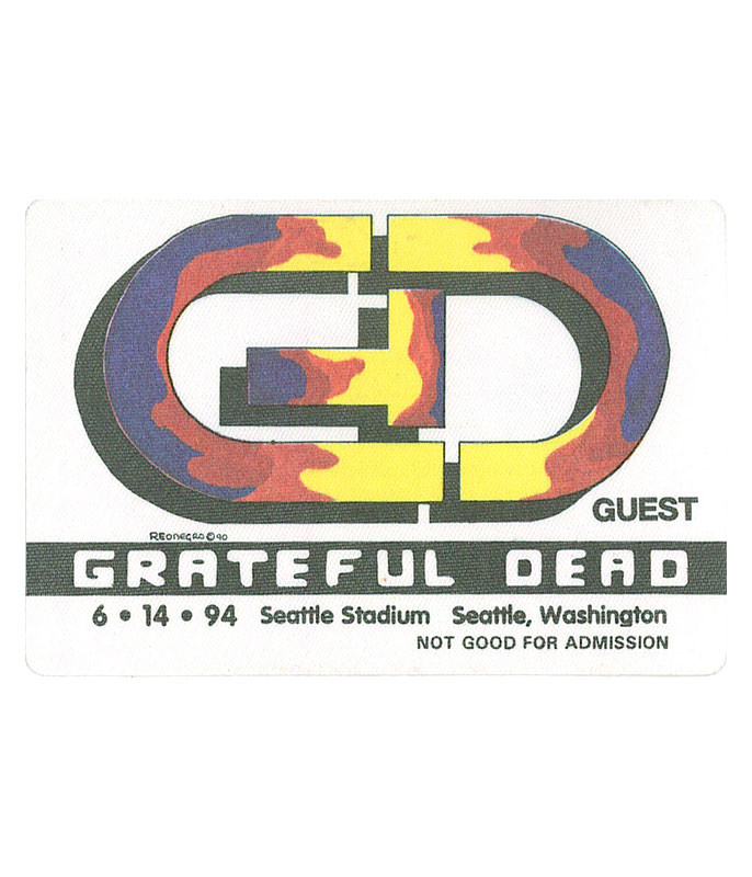 The Vault Grateful Dead 1994 06-14 Backstage Pass Liquid Blue