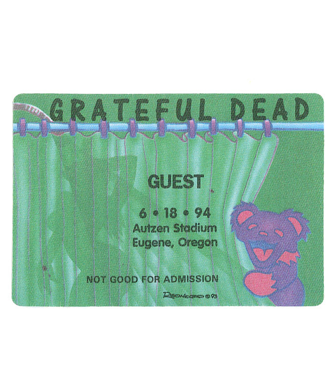 GRATEFUL DEAD 1994 06-18 BACKSTAGE PASS