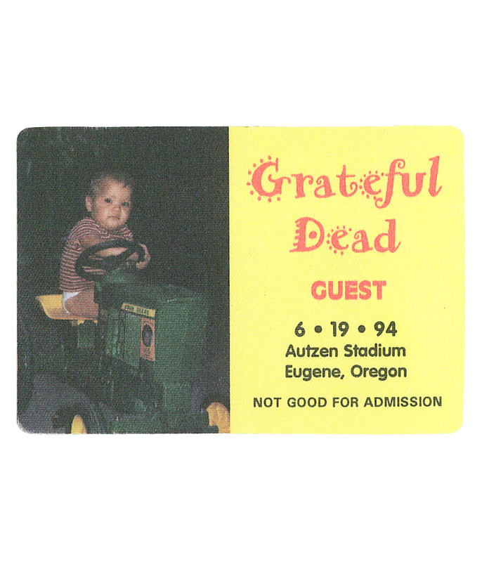 GRATEFUL DEAD 1994 06-19 BACKSTAGE PASS