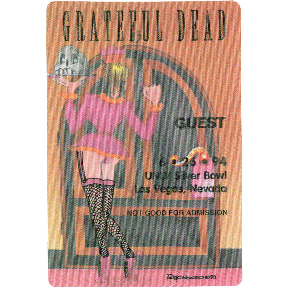 Grateful Dead 1994 06-26 Backstage Pass