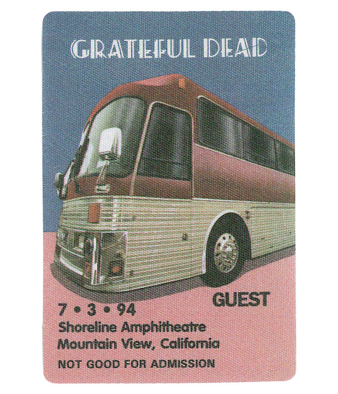 The Vault Grateful Dead 1994 07-03 Backstage Pass Liquid Blue