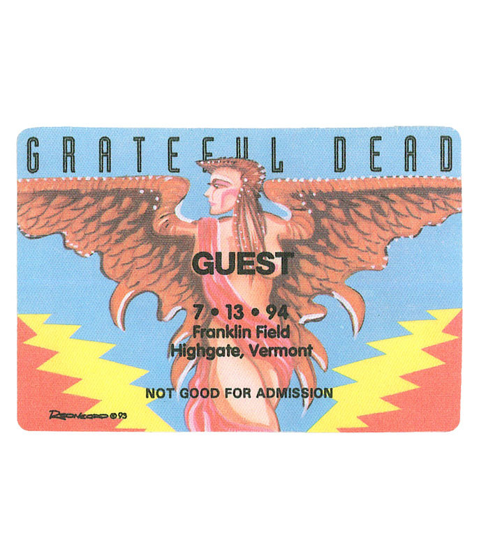 The Vault Grateful Dead 1994 07-13 Backstage Pass Liquid Blue