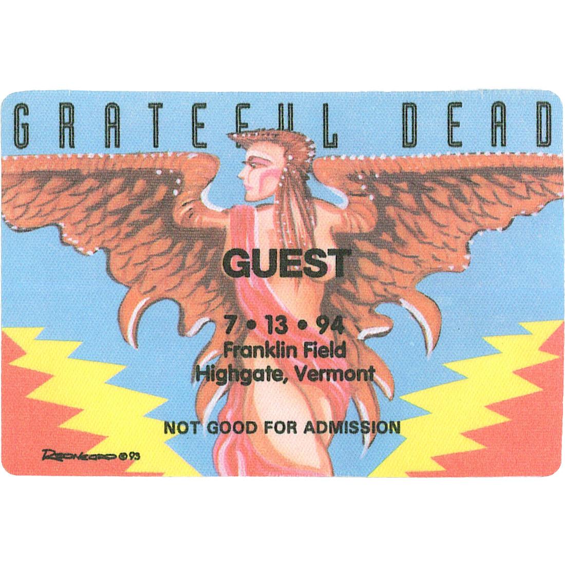 Grateful Dead 1994 07-13 Backstage Pass