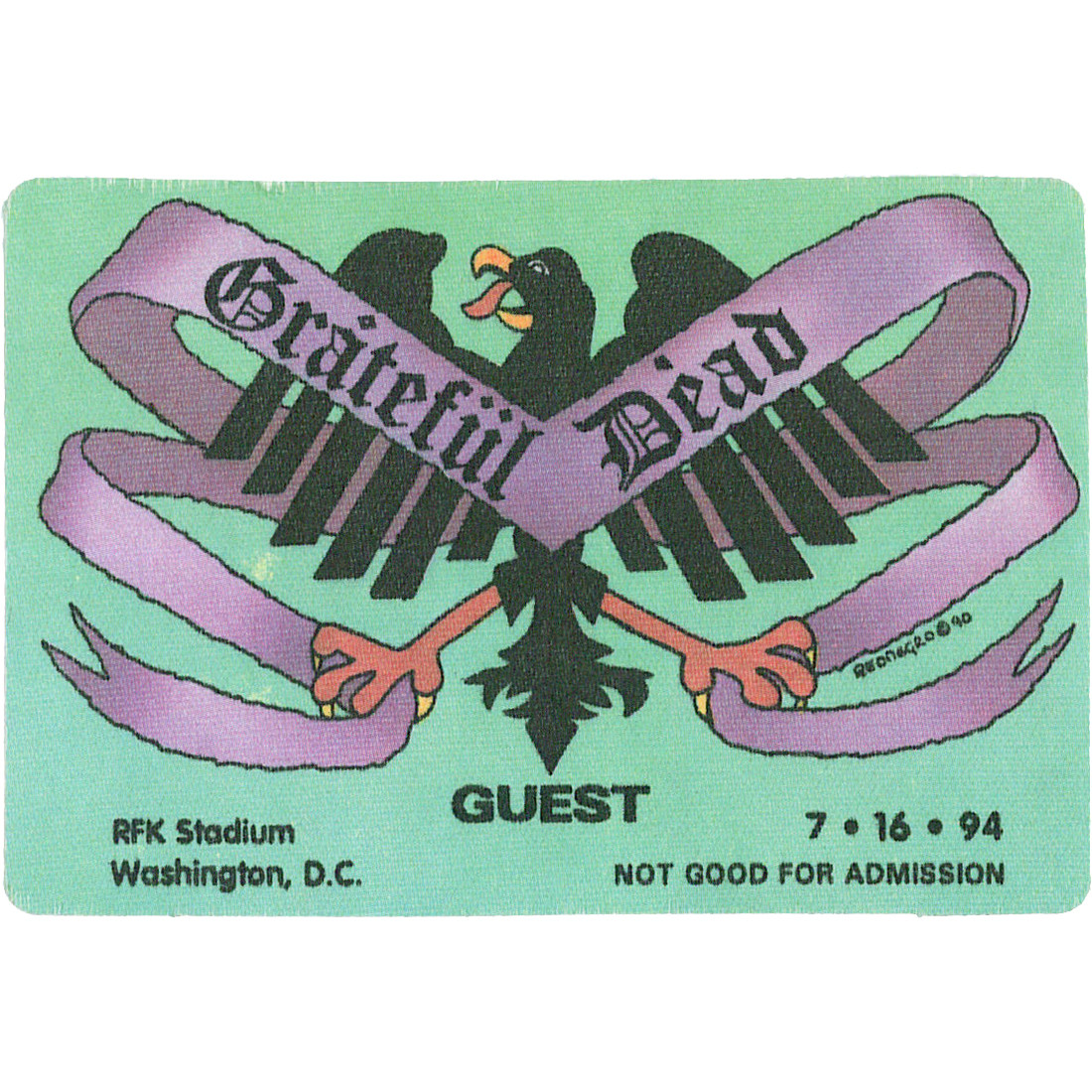 Grateful Dead 1994 07-16 Backstage Pass