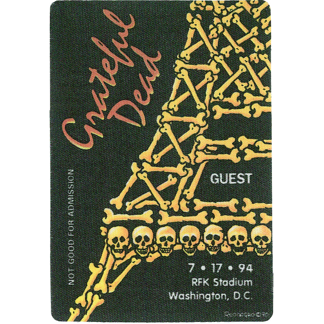Grateful Dead 1994 07-17 Backstage Pass