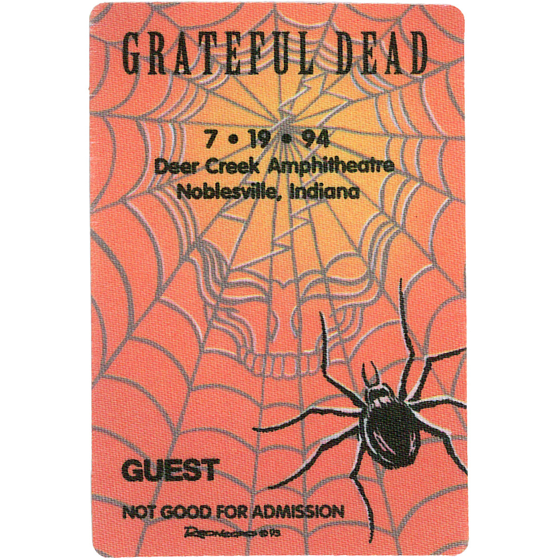 Grateful Dead 1994 07-19 Backstage Pass