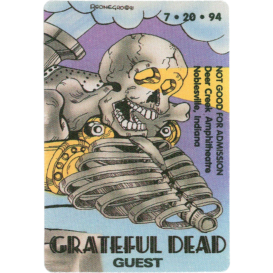 Grateful Dead 1994 07-20 Backstage Pass