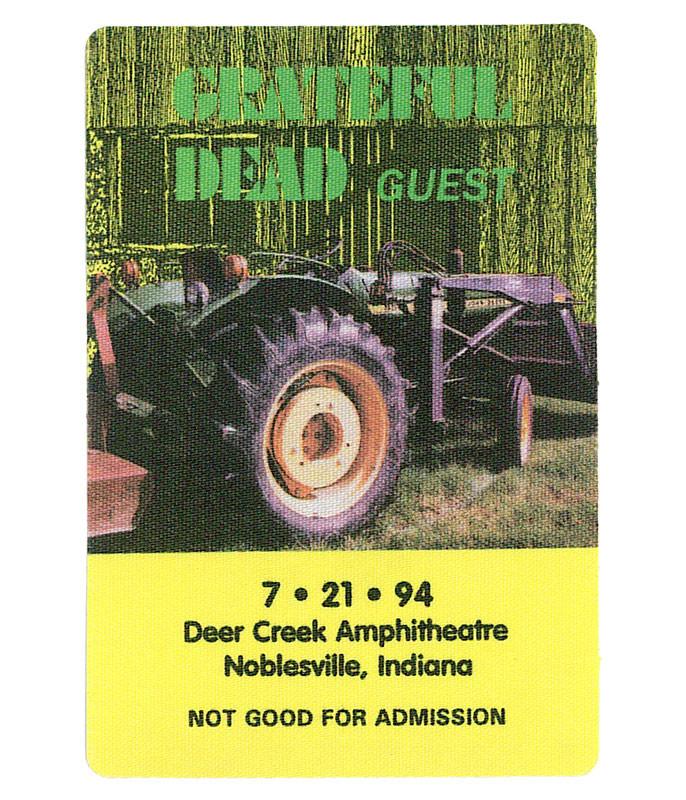 Grateful Dead 1994 07-21 Backstage Pass