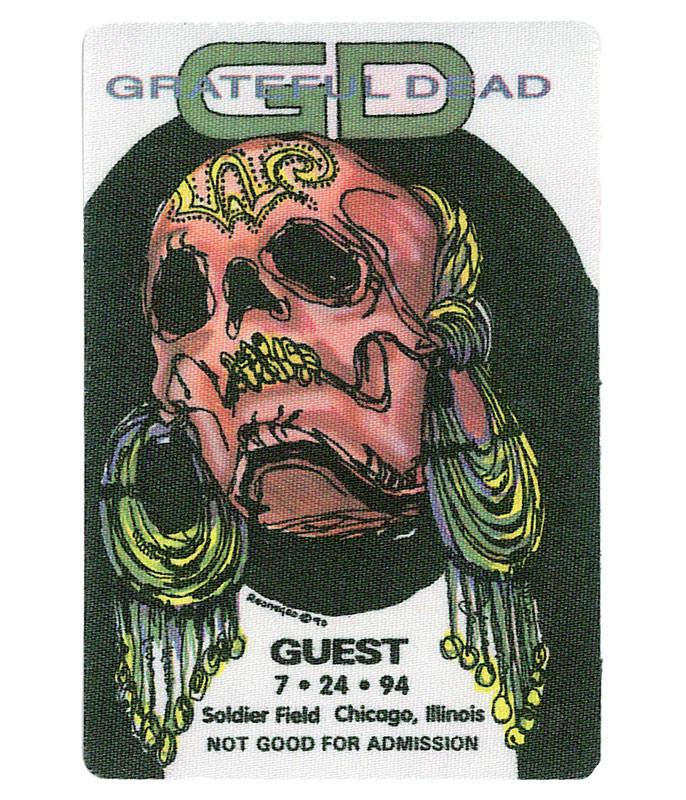 The Vault Grateful Dead 1994 07-24 Backstage Pass Liquid Blue