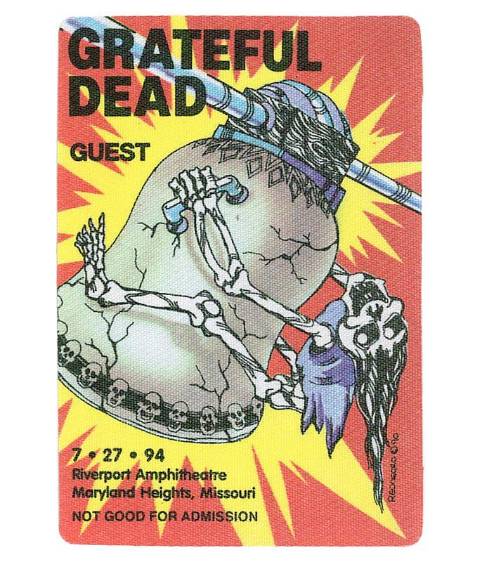 The Vault Grateful Dead 1994 07-27 Backstage Pass Liquid Blue