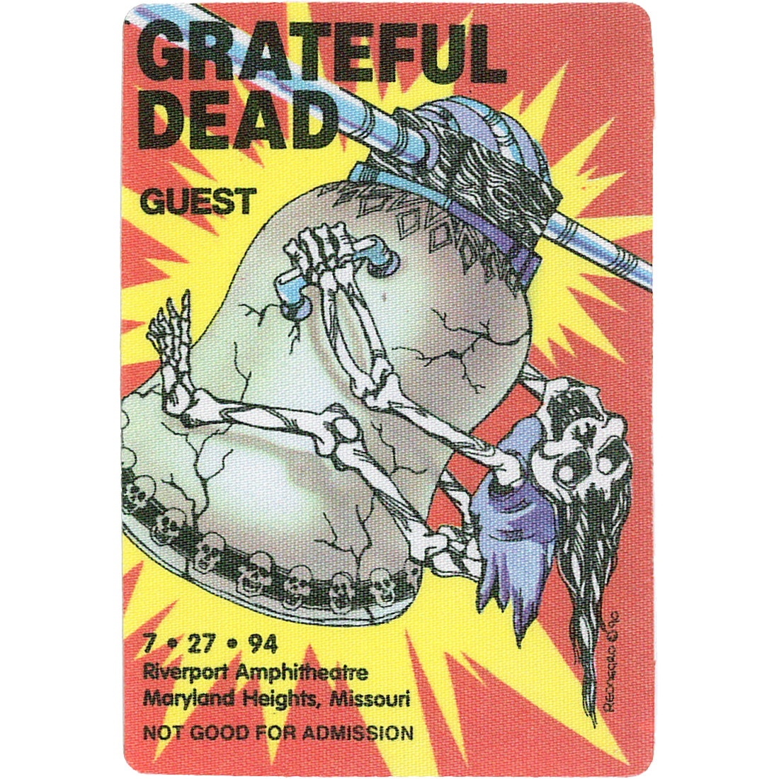 Grateful Dead 1994 07-27 Backstage Pass
