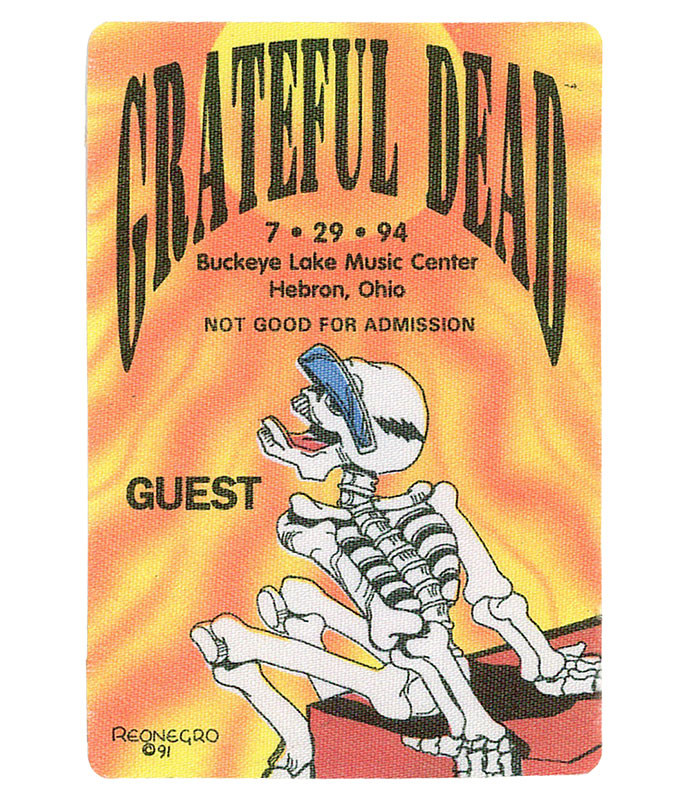 The Vault Grateful Dead 1994 07-29 Backstage Pass Liquid Blue