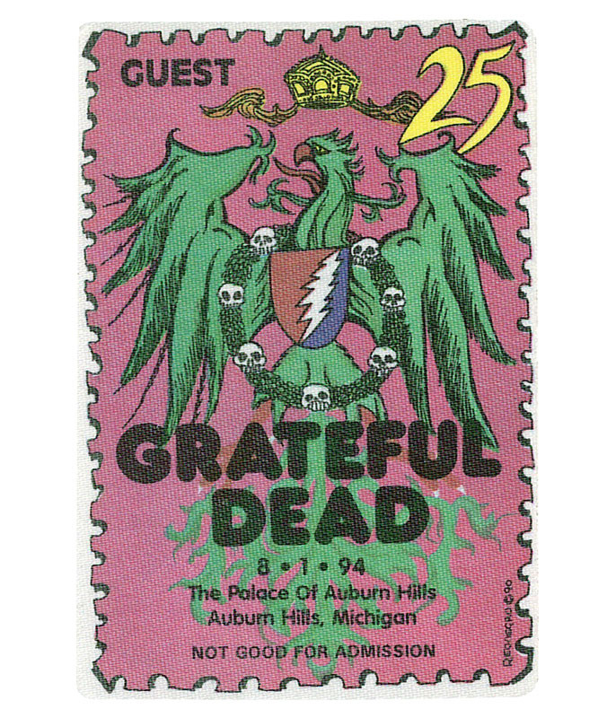 Grateful Dead 1994 08-01 Backstage Pass