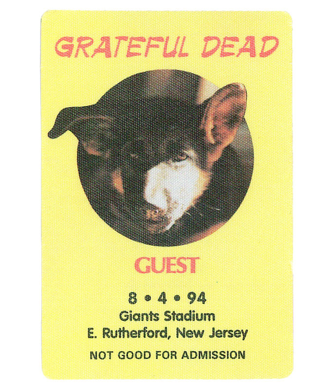 GRATEFUL DEAD 1994 08-04 BACKSTAGE PASS