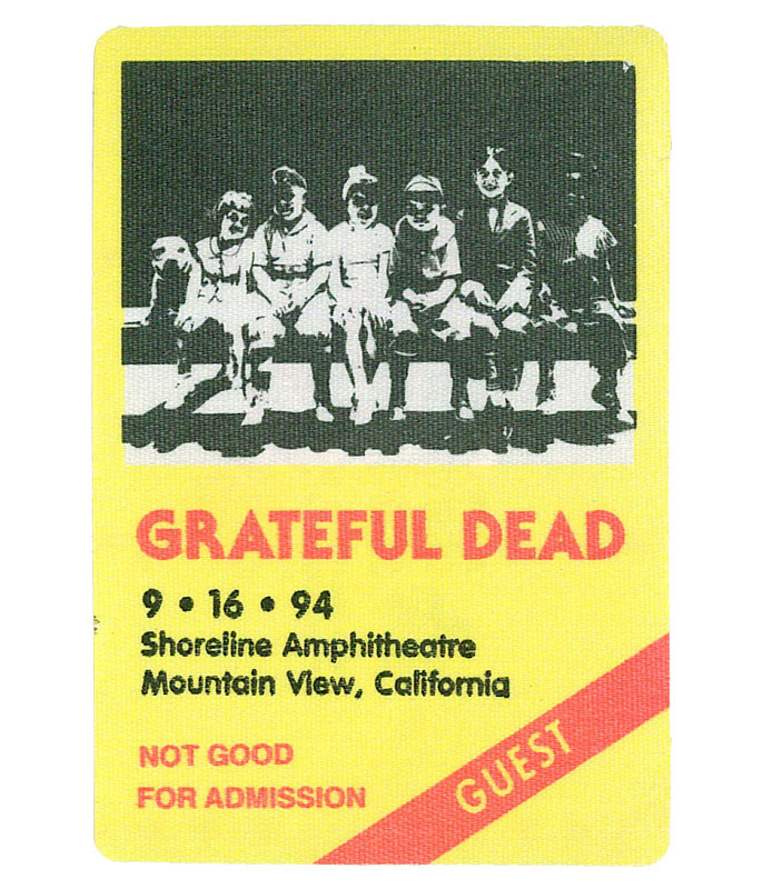 GRATEFUL DEAD 1994 09-16 BACKSTAGE PASS