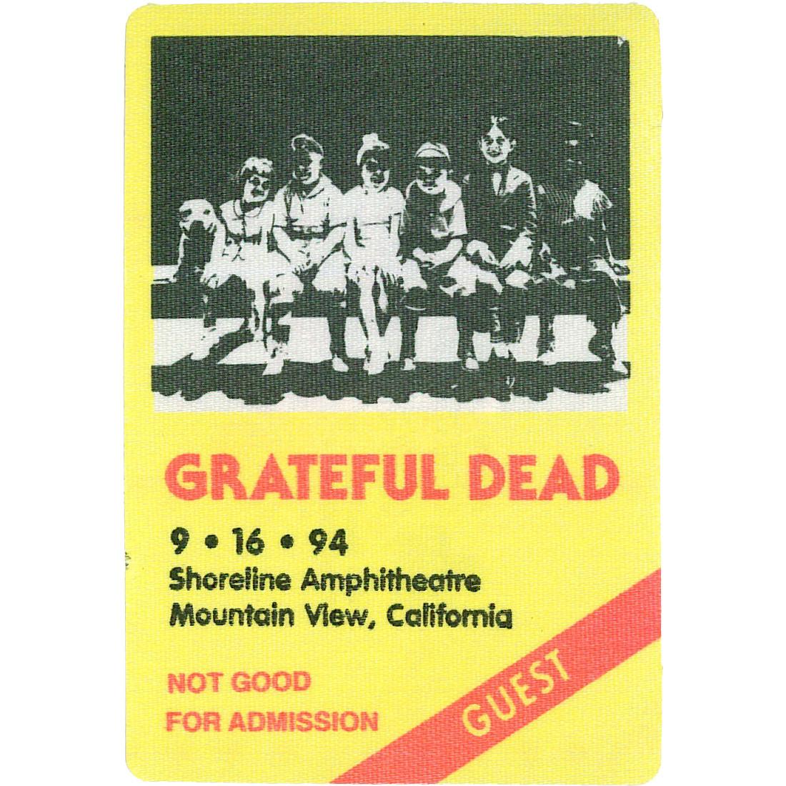 Grateful Dead 1994 09-16 Backstage Pass