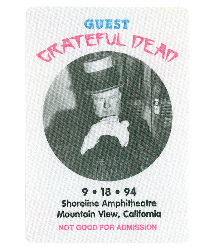 GRATEFUL DEAD 1994 09-18 BACKSTAGE PASS