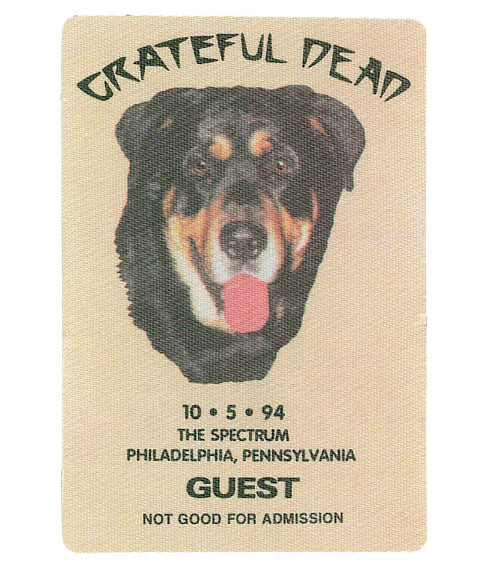The Vault Grateful Dead 1994 10-05 Backstage Pass Liquid Blue