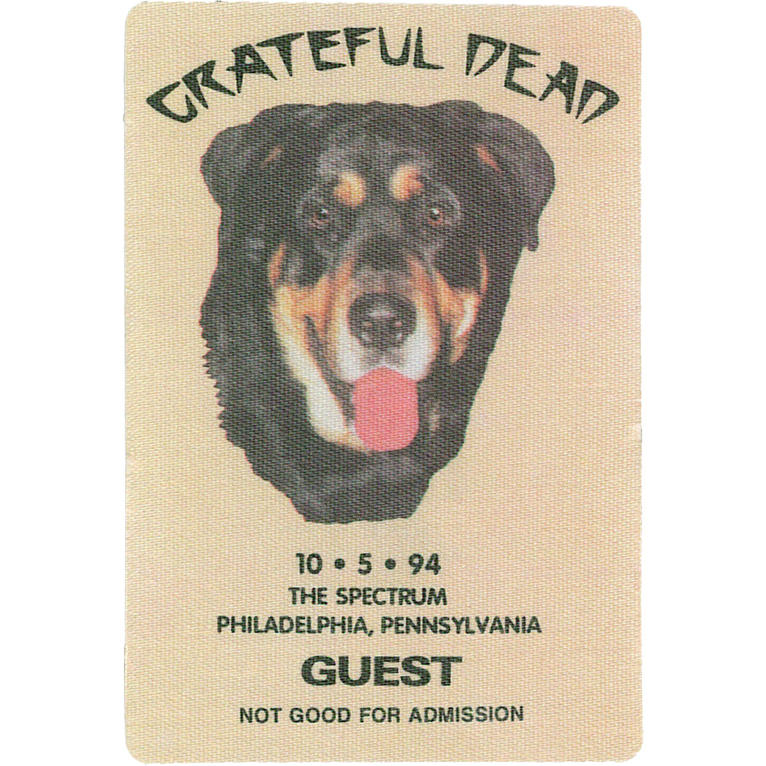 Grateful Dead 1994 10-05 Backstage Pass