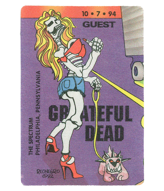 GRATEFUL DEAD 1994 10-07 BACKSTAGE PASS