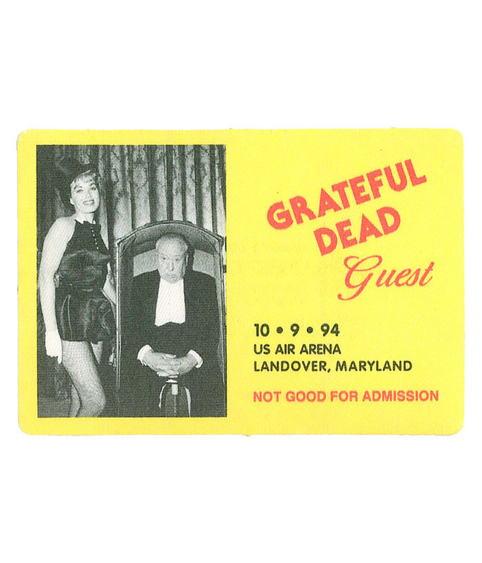 GRATEFUL DEAD 1994 10-09 BACKSTAGE PASS