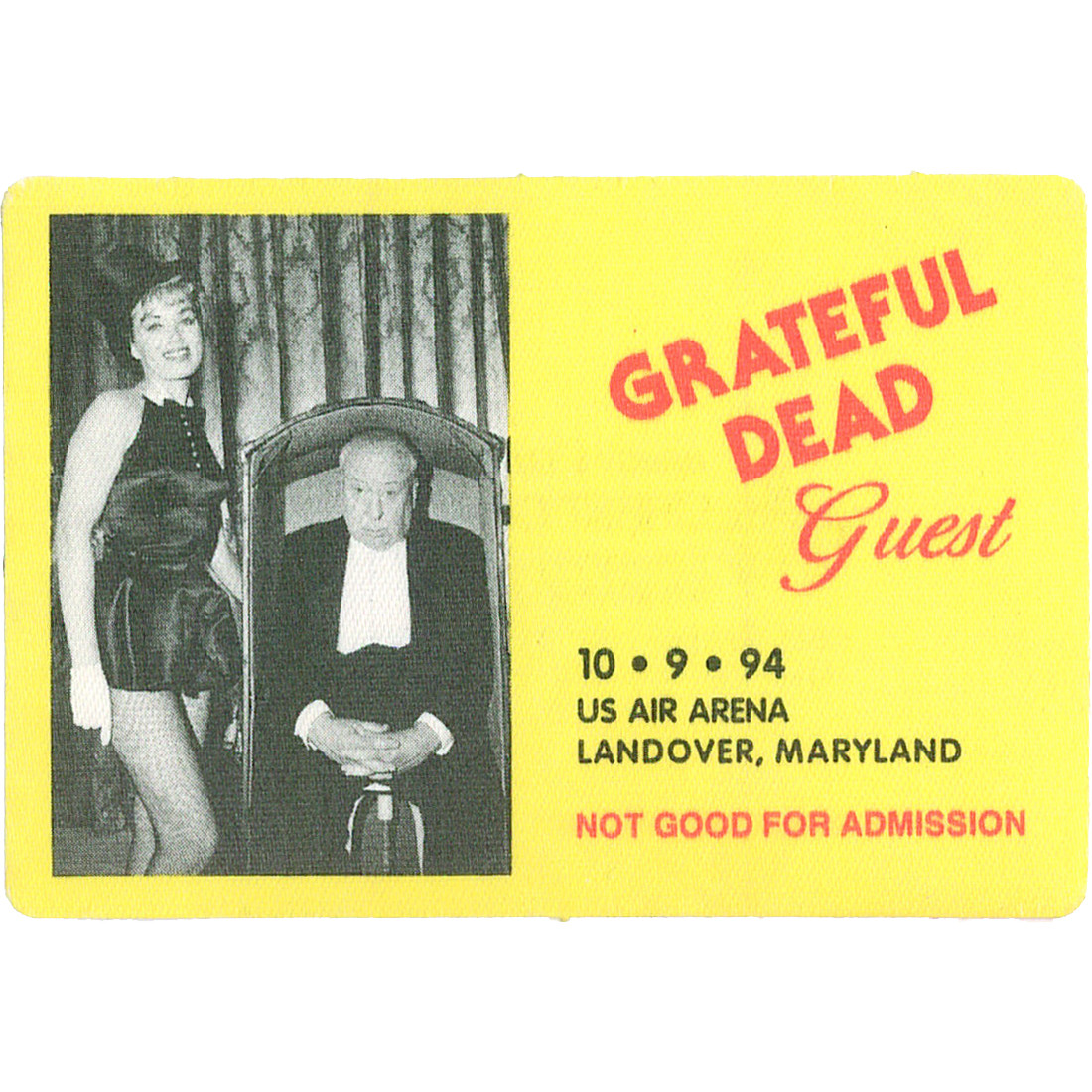 Grateful Dead 1994 10-09 Backstage Pass