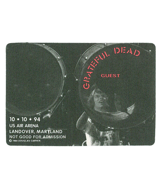 The Vault Grateful Dead 1994 10-10 Backstage Pass Liquid Blue