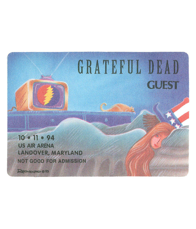 The Vault Grateful Dead 1994 10-11 Backstage Pass Liquid Blue