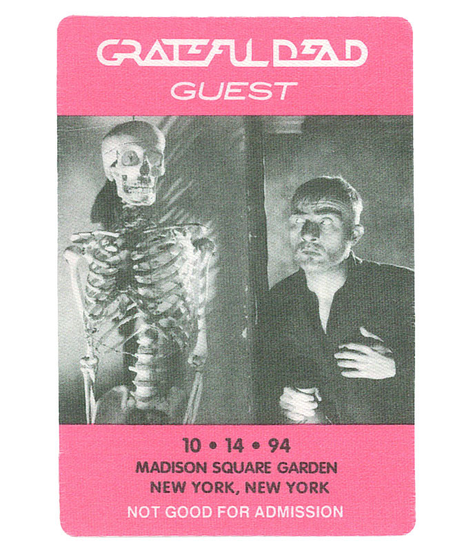 The Vault Grateful Dead 1994 10-14 Backstage Pass Liquid Blue