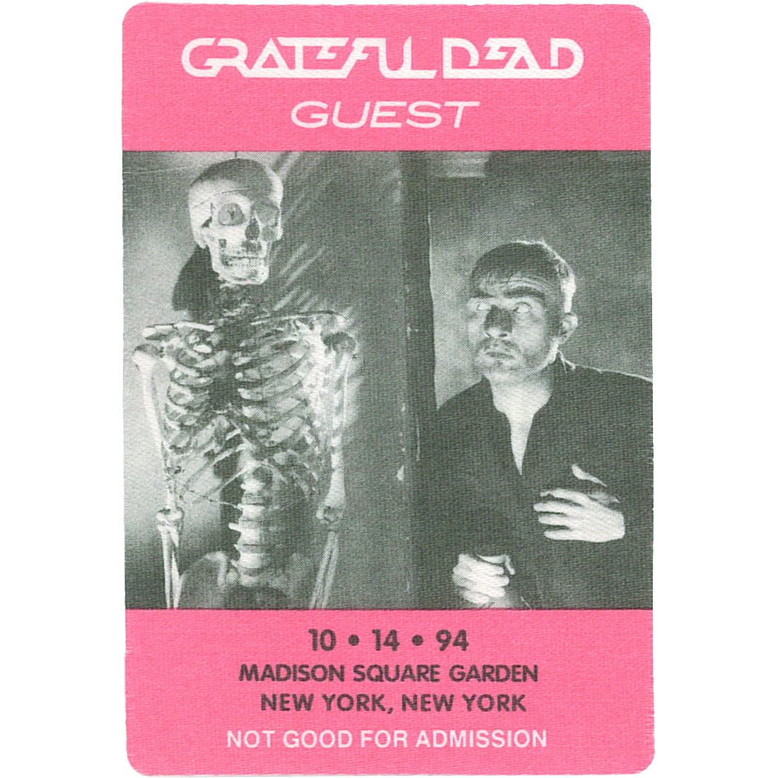 Grateful Dead 1994 10-14 Backstage Pass