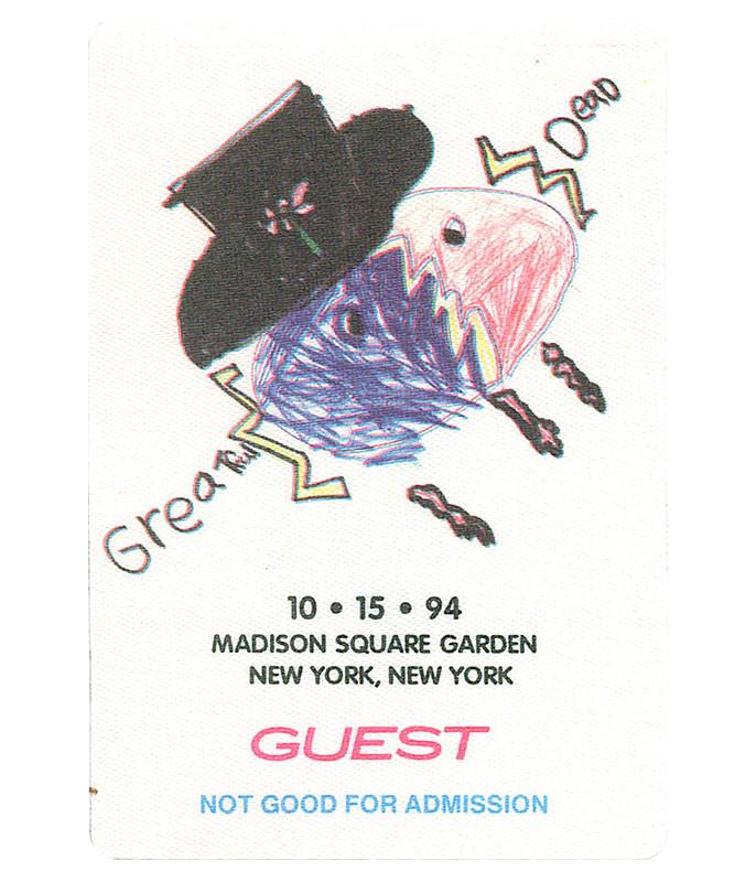 Grateful Dead 1994 10-15 Backstage Pass