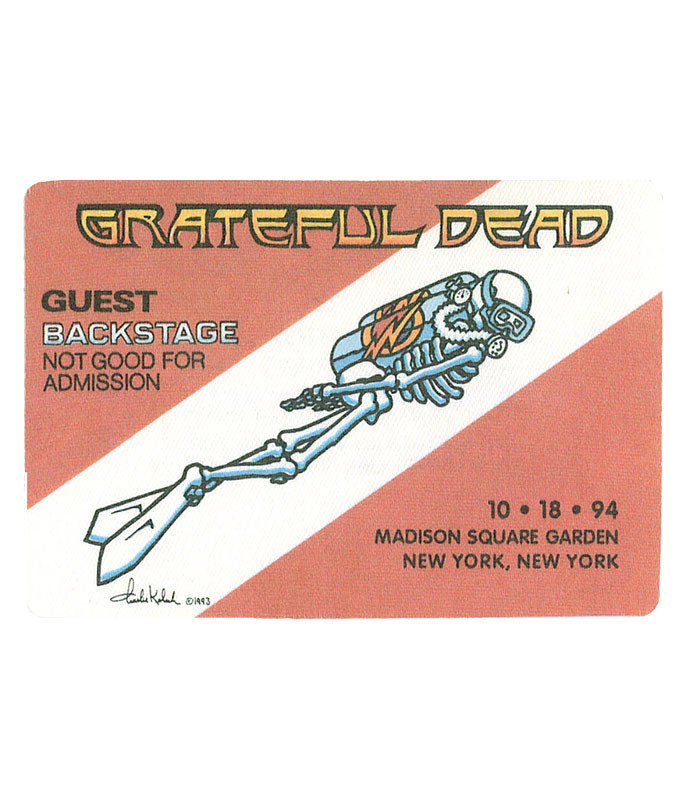 The Vault Grateful Dead 1994 10-18 Backstage Pass Liquid Blue