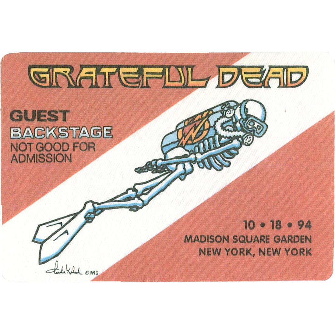 Grateful Dead 1994 10-18 Backstage Pass