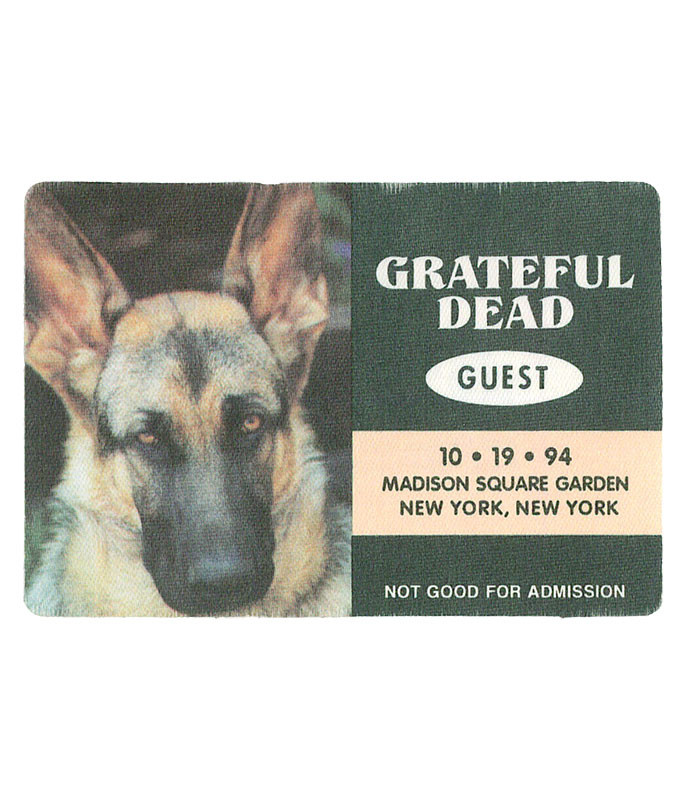 GRATEFUL DEAD 1994 10-19 BACKSTAGE PASS