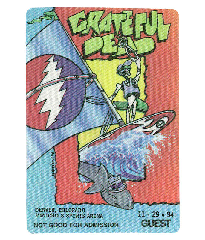 The Vault Grateful Dead 1994 11-29 Backstage Pass Liquid Blue