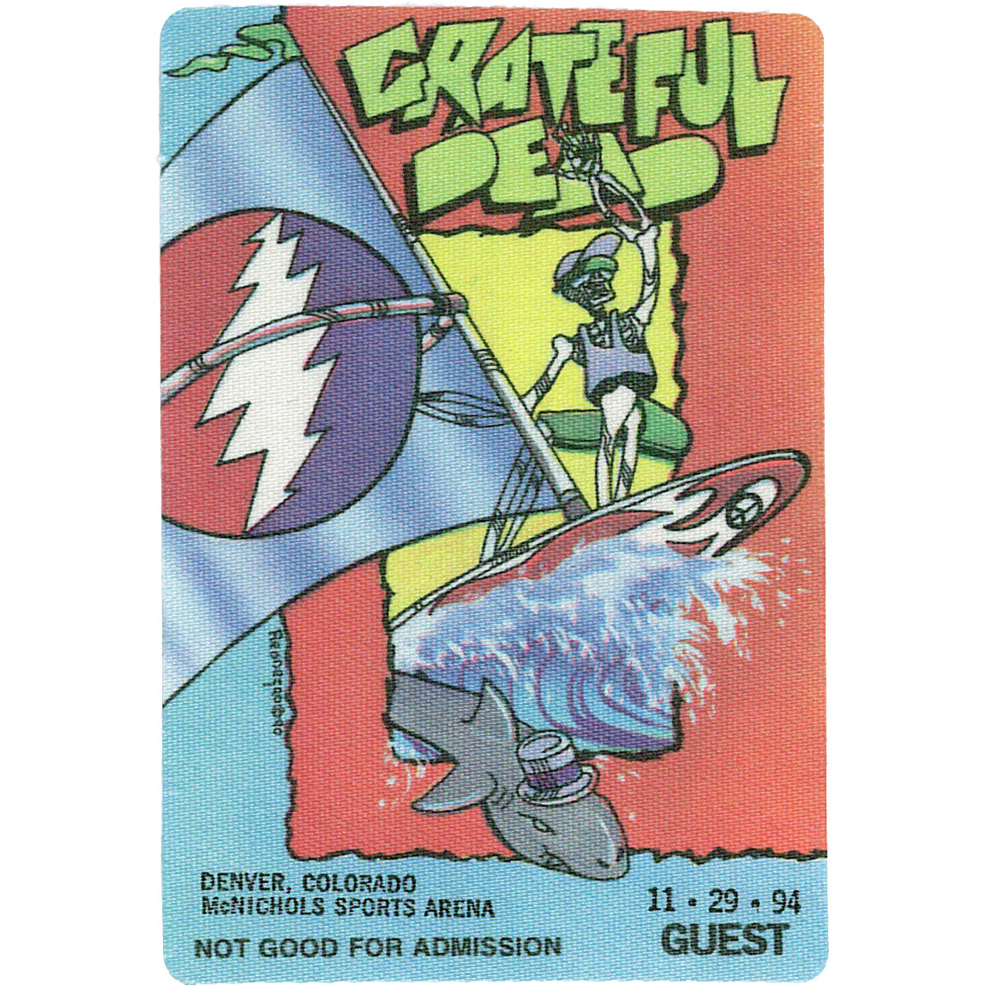 Grateful Dead 1994 11-29 Backstage Pass