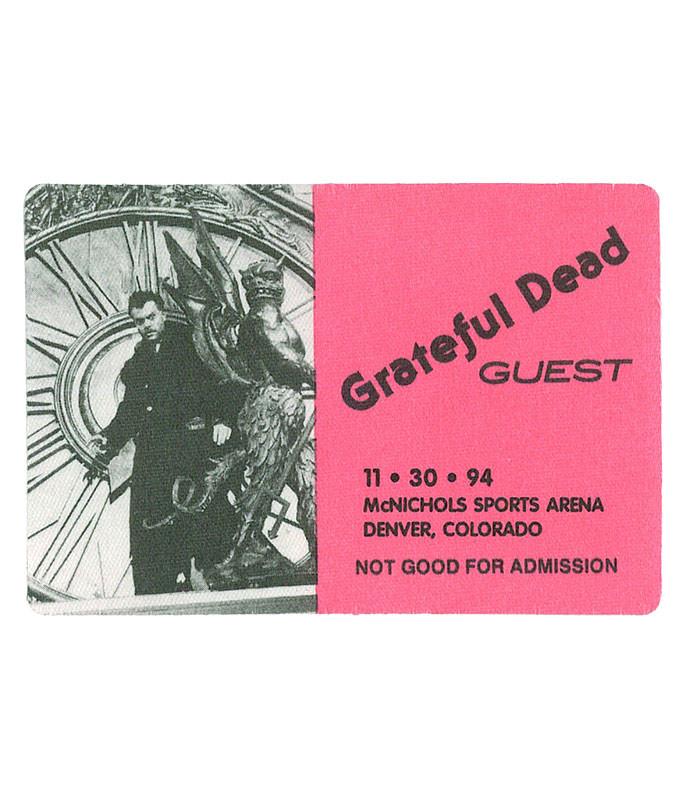 The Vault Grateful Dead 1994 11-30 Backstage Pass Liquid Blue
