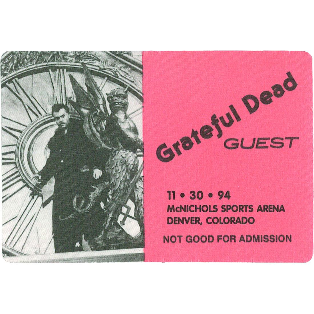 Grateful Dead 1994 11-30 Backstage Pass