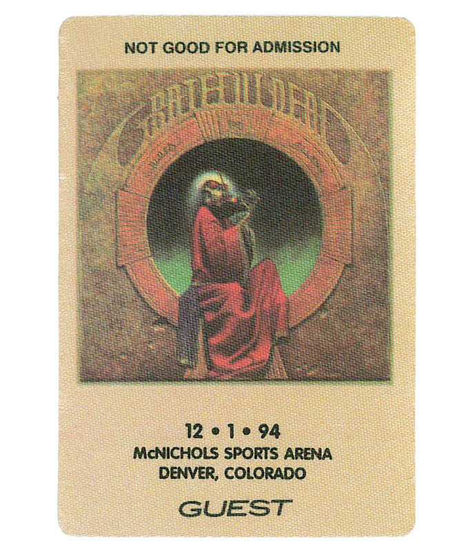 Grateful Dead 1994 12-01 Backstage Pass