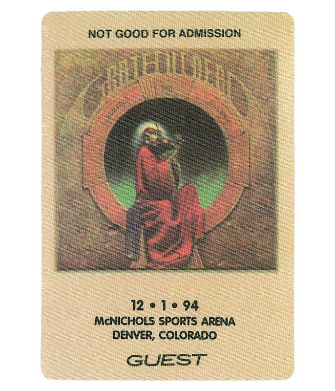 Grateful Dead 1994 12-01 Backstage Pass