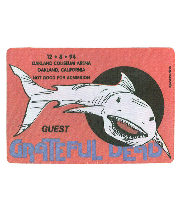 The Vault Grateful Dead 1994 12-08 Backstage Pass Liquid Blue