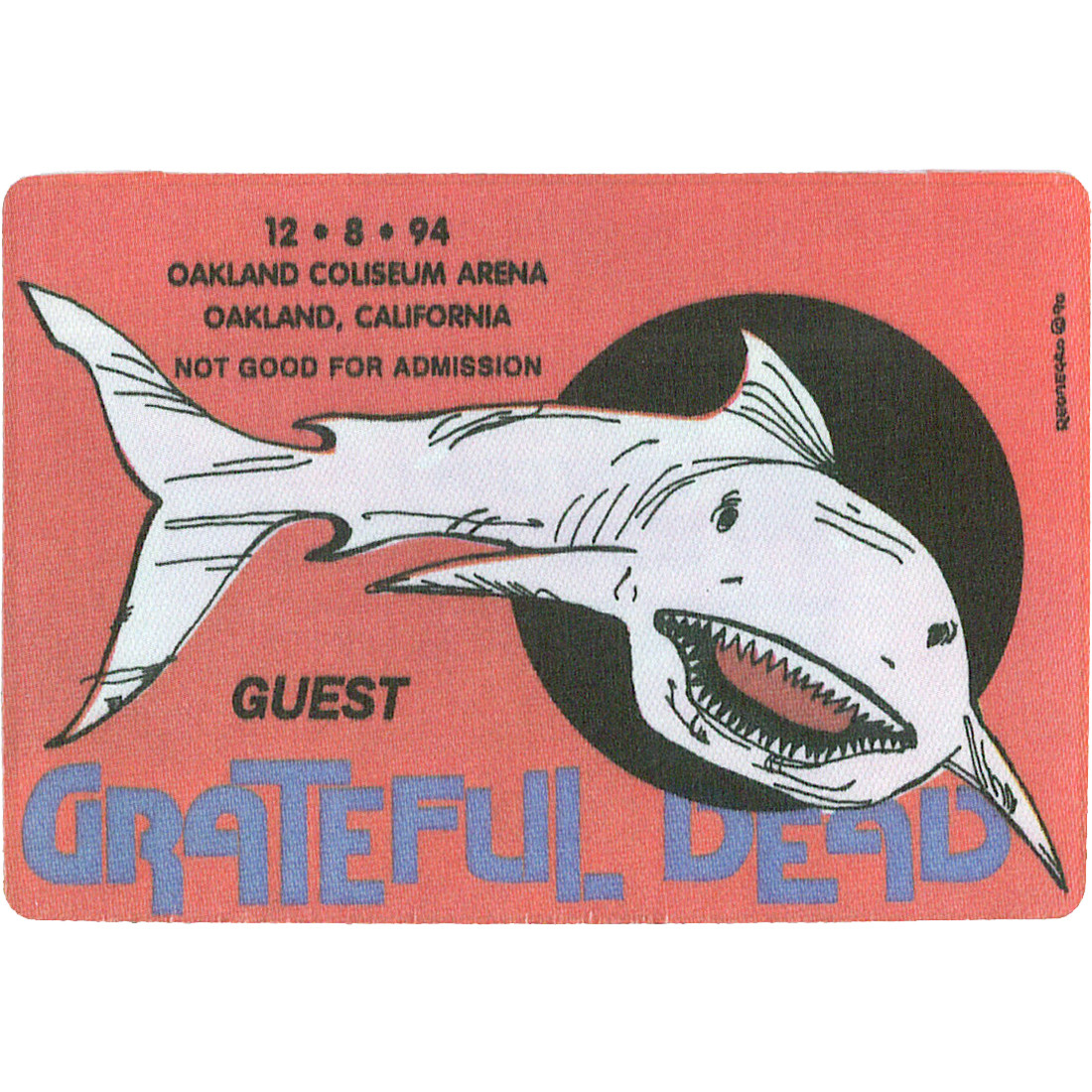 Grateful Dead 1994 12-08 Backstage Pass