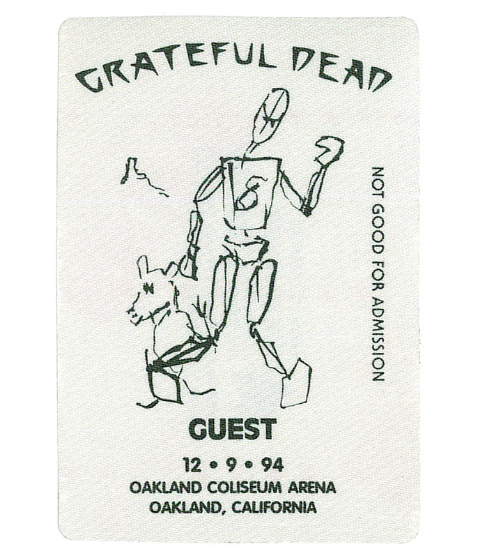 GRATEFUL DEAD 1994 12-09 BACKSTAGE PASS