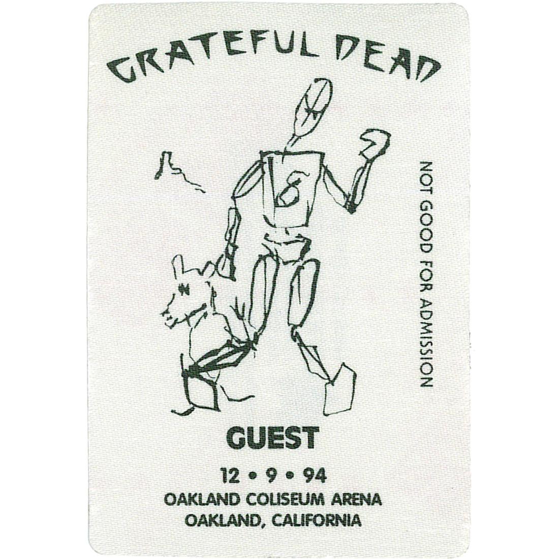 Grateful Dead 1994 12-09 Backstage Pass