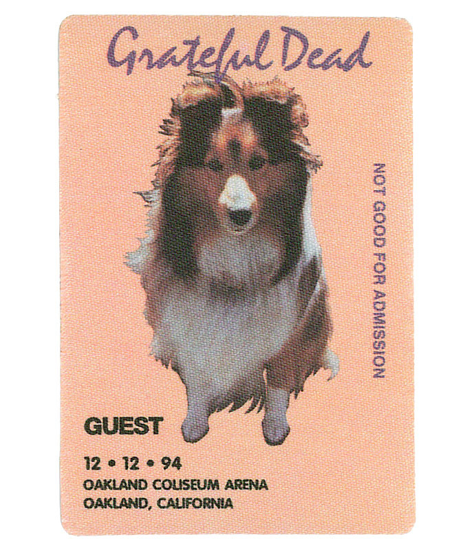 Grateful Dead 1994 12-12 Backstage Pass