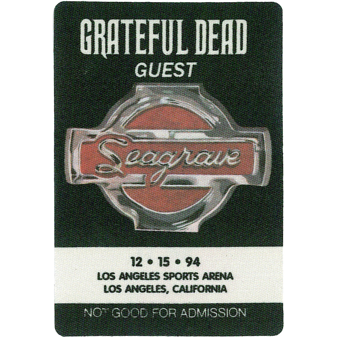 Grateful Dead 1994 12-15 Backstage Pass