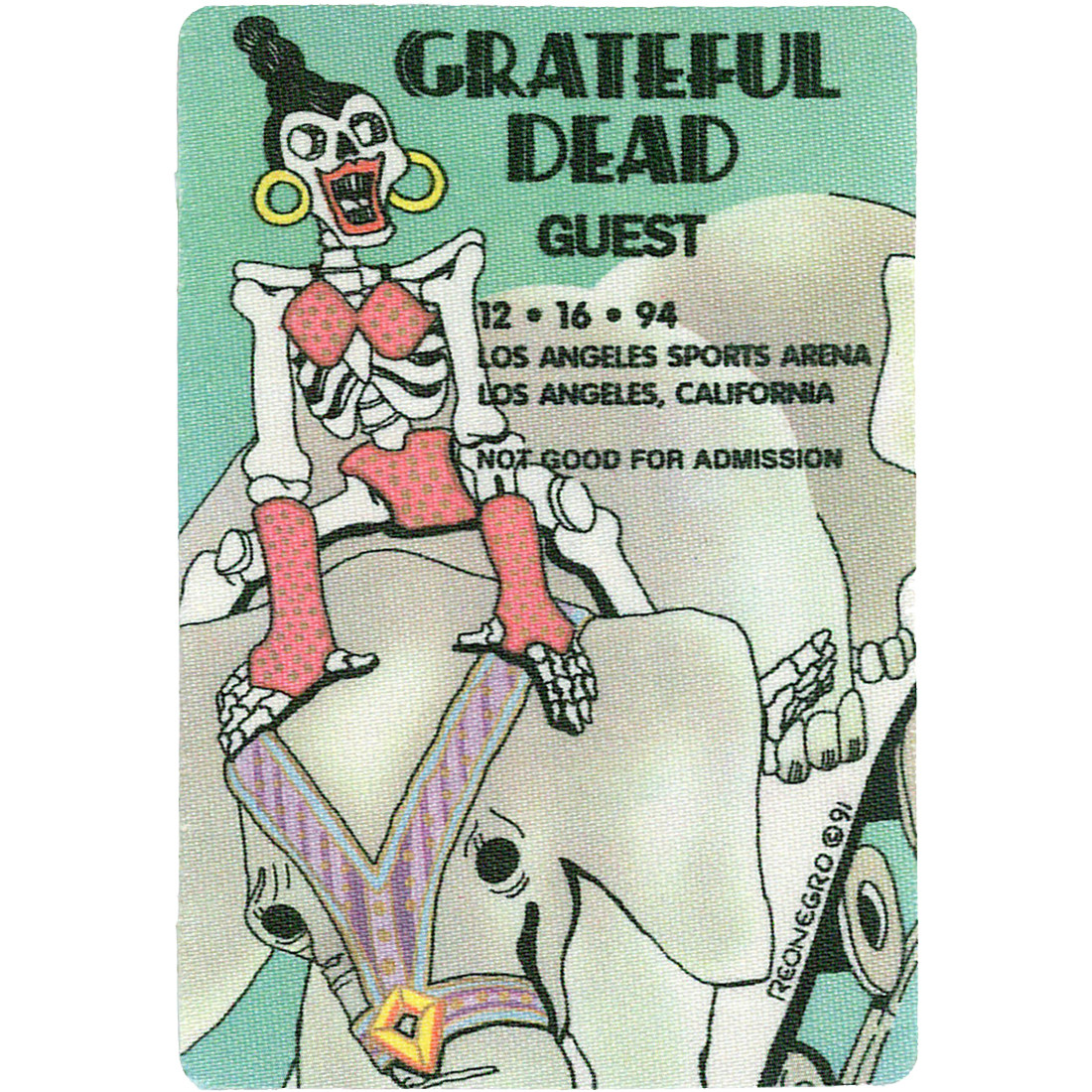 Grateful Dead 1994 12-16 Backstage Pass