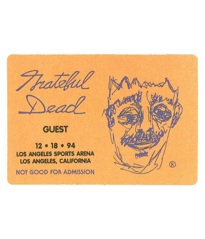 Grateful Dead 1994 12-18 Backstage Pass
