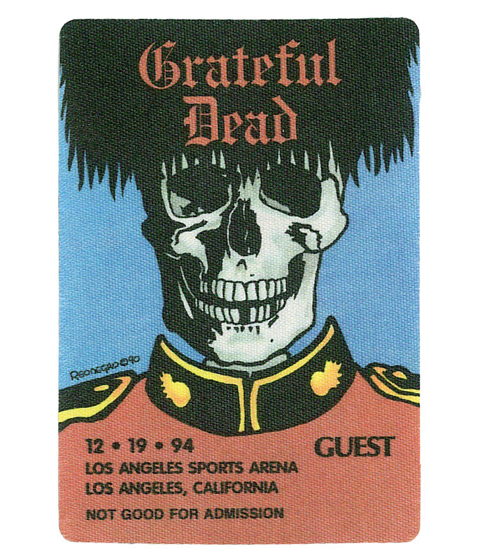 GRATEFUL DEAD 1994 12-19 BACKSTAGE PASS