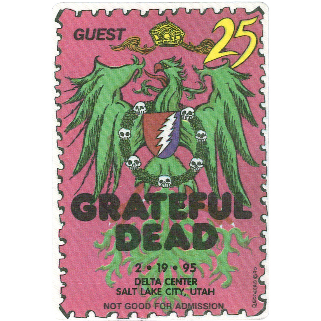 Grateful Dead 1995 02-19 Backstage Pass